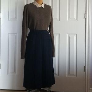Wrap pleat skirt